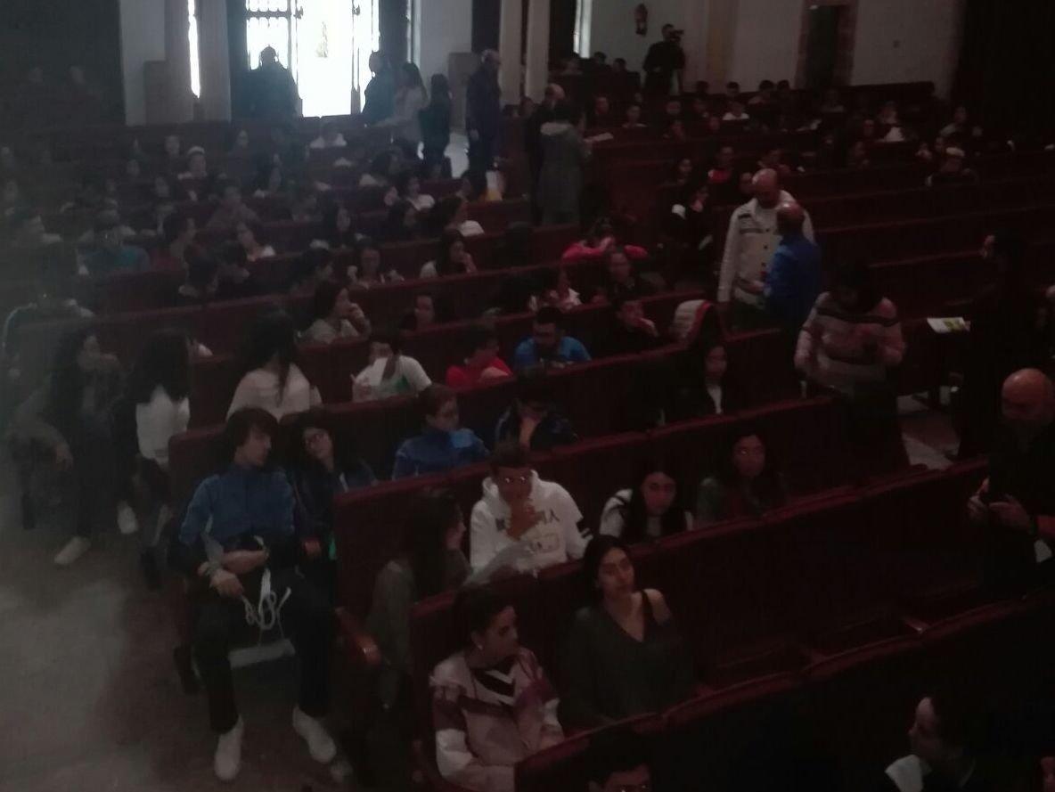 Estudiantes de Úbeda en el congreso.