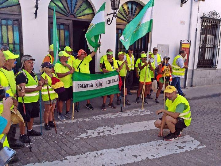 Pensionistas en Marmolejo.